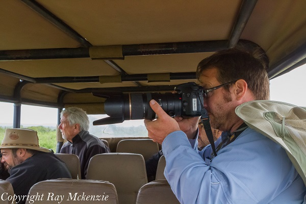 Anthony Carrino and Don shooting the big 5 in Kruger National Park