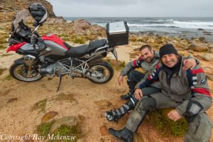 Anthony Carrino and Neale Bayly in South Africa with Ray Mckenzie 1