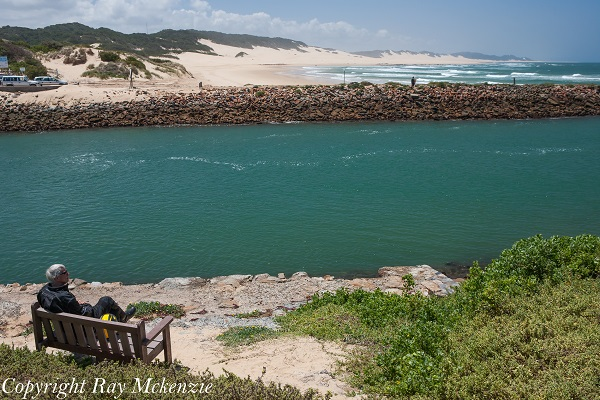 Bob enjoying the view of Port Alfred South Africa