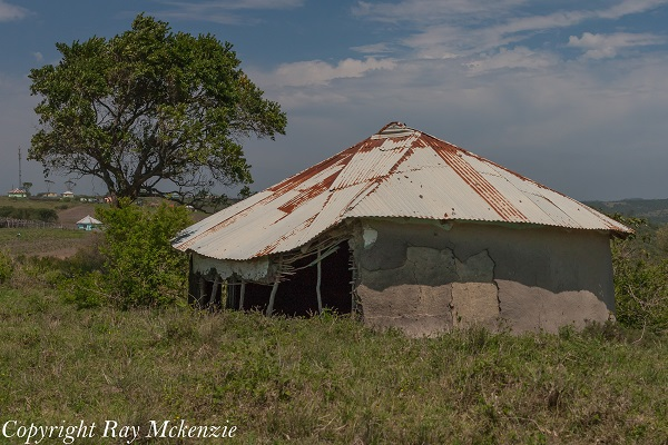 Damaged South African Hut