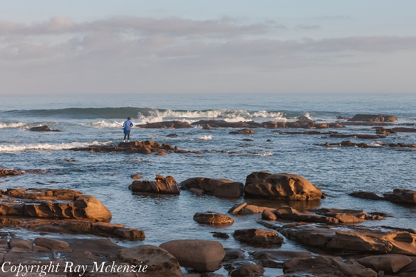 Fisherman at Kidds Beach South Africa