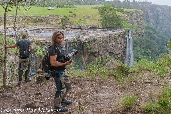 Neale Bayly, and Anthony Carrino at Magwa Falls South Africa