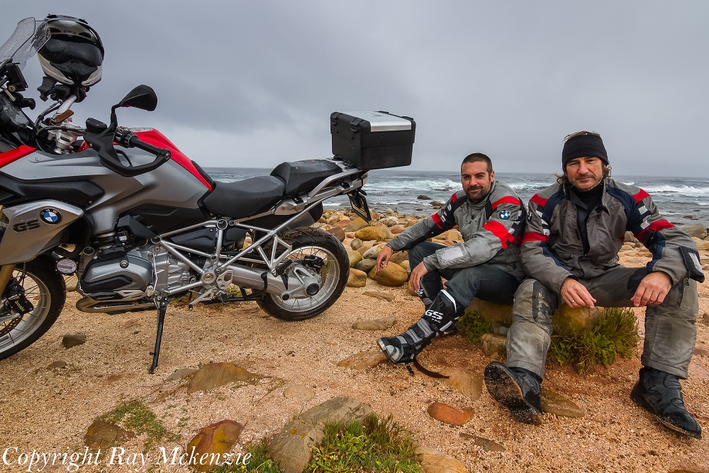 Neale Bayly and Anthony Carrino at the Cape of Good Hope South Africa