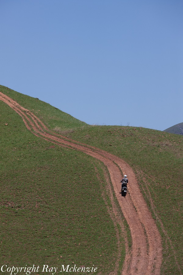 Neale Bayly inspired to ride a near vertical hill near Swaziland