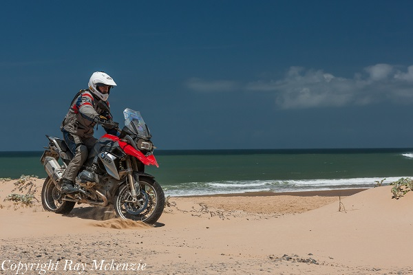 Neale Bayly riding the beach in Port Alfred South Africa