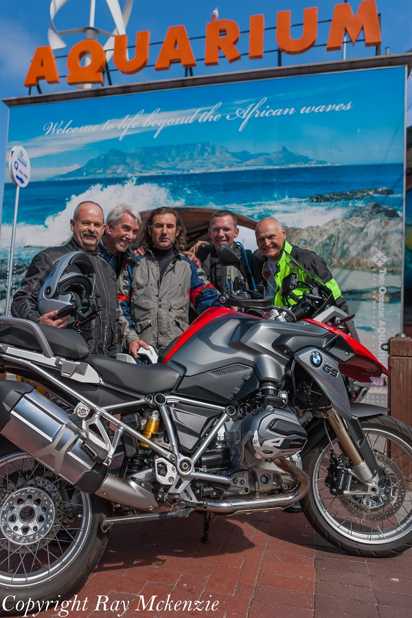 Neale Bayly with our crew of riders in Cape Town South Africa