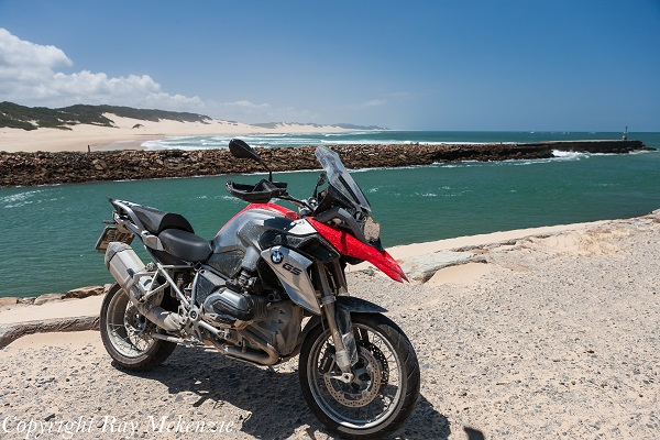 Neale Bayly's BMW R1200GS in Port Alfred South Africa