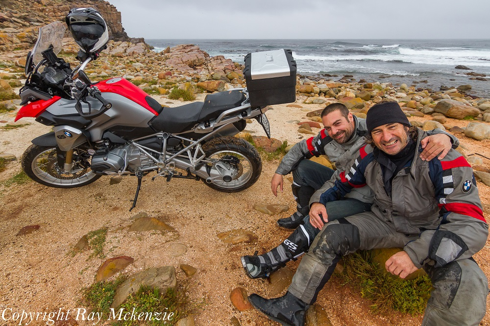 Neale and Anthony Day 2 Cape of Good Hope with BMW R1200GS