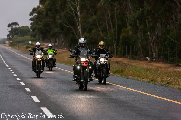 Neale bayly riding with johan and the crew