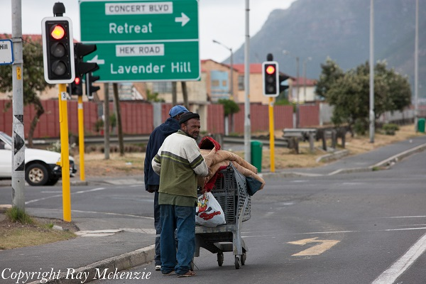 South Africa Day 2 people along the road