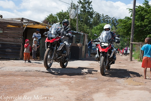 South Africa Day 3 - with Neale Bayly and Anthony Carrino with the BMW R1200GS Shanty Town 1