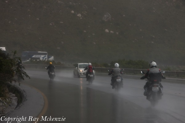 South Africa Day 3 - with Neale Bayly and Anthony Carrino with the BMW R1200GS in the rain