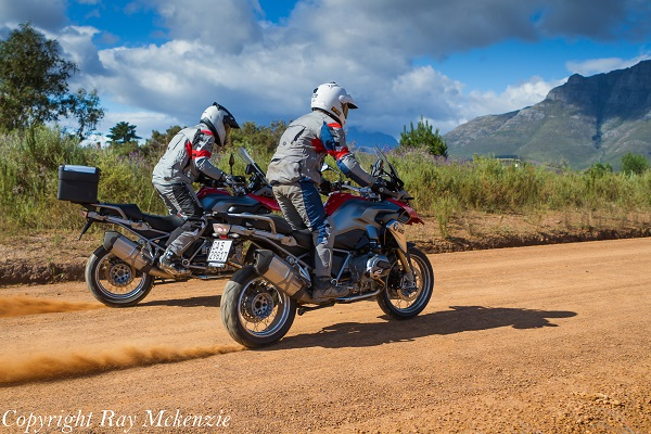 South Africa Day 3 - with Neale Bayly and Anthony Carrino with the BMW R1200GS sliding in Vineyards 2
