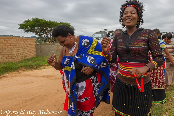 Traditional dressed singers from the White river Area South Africa