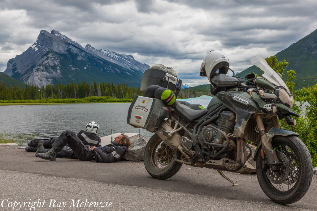 Neale Bayly with Ray Mckenzie Alaska Adventure on Triumph Motorcycles Banff 5
