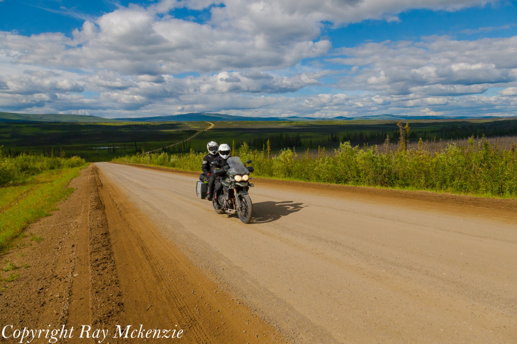 Neale Bayly with Ray Mckenzie Alaska Adventure on Triumph Motorcycles Dalton Highway