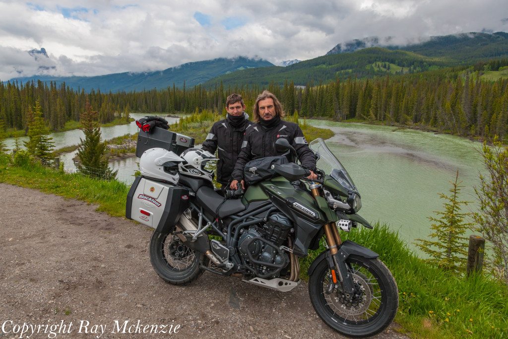Neale Bayly with Ray Mckenzie Alaska Adventure on Triumph Motorcycles Father and Son