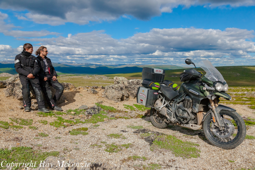 Neale Bayly with Ray Mckenzie Alaska Adventure on Triumph Motorcycles father son 1