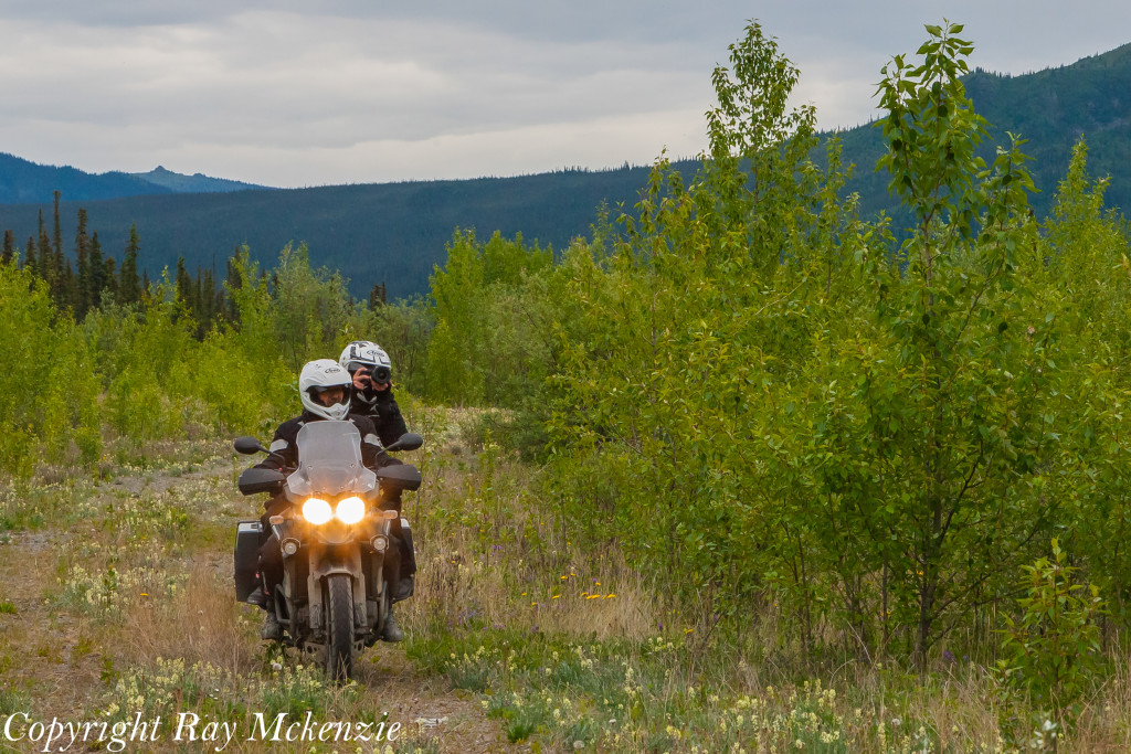 Neale Bayly with Ray Mckenzie Alaska Adventure on Triumph Motorcycles ghost town